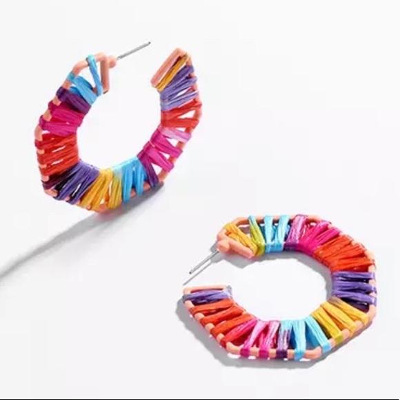Geometric Threaded Multi color Statement Earrings